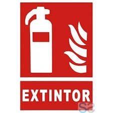 cartel extintor luminiscente 29.7x21cm