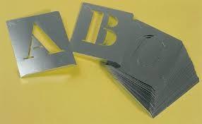 abecedario pintar aluminio 100mm a-z
