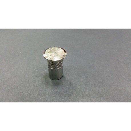 casquillo suelo con tapon guardapolvo 24mm cromo