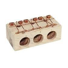 trampa madera 3 agujeros pequeña
