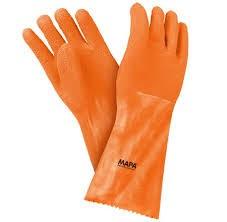 guante goma naranja t-10.5