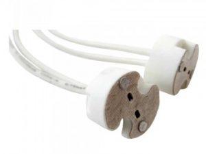 portalampara dicroica cable silicona