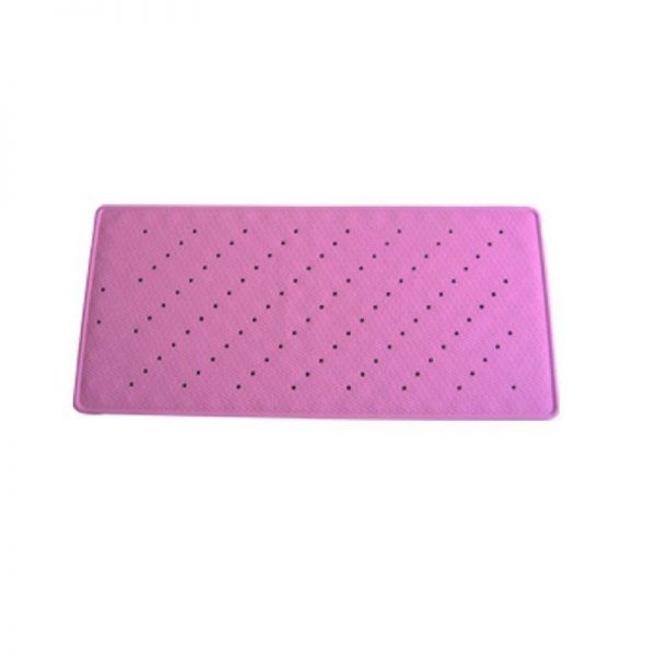 alfombra bañera antideslizante 97x36cm rosa