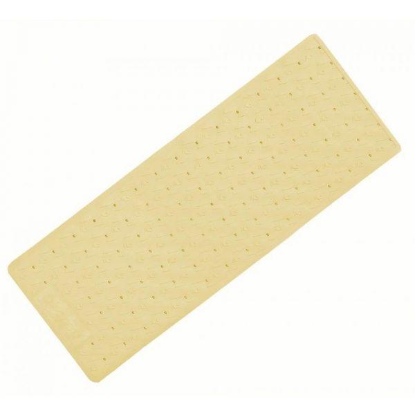 alfombra bañera antideslizante 97x36cm beige