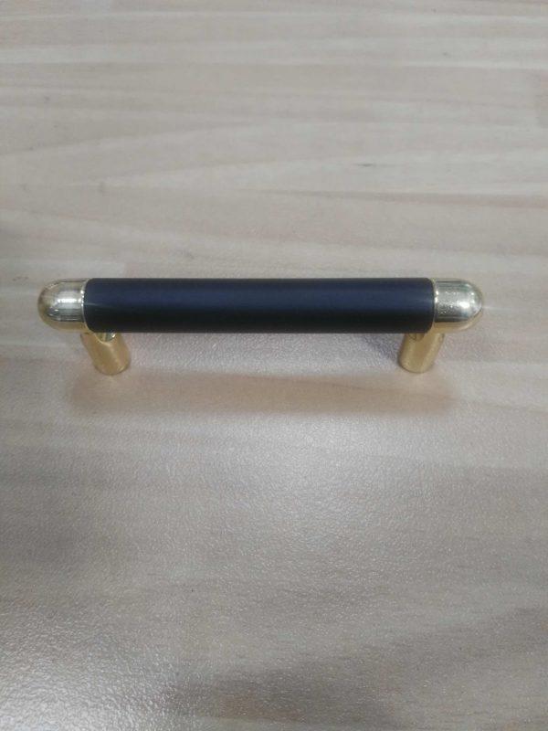 tirador mueble 8cm negro oro ref 0265