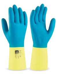 guante neopreno azul-amarillo t-grande