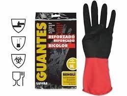 guante reforzado bicolor latex talla-10