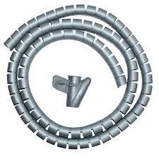 organizador cables 25mmx1.80mtrs gris
