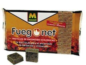 pastillas enciende fuegos ecologicas fuego net 24 unidades