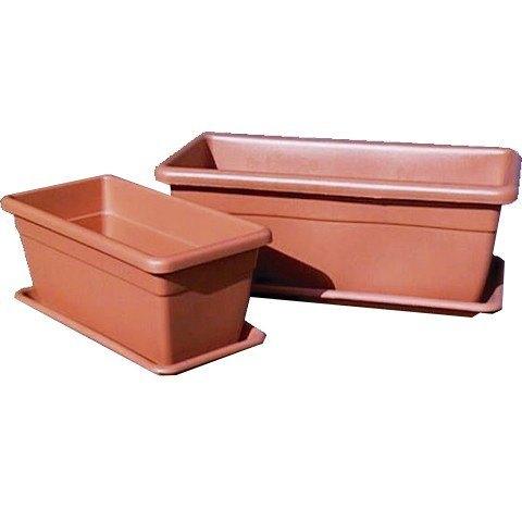 macetero rectangular terracota c/plato 50x23cm