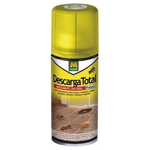 insecticida descarga total pulgas, garrapatas, cucarachas spray 100ml
