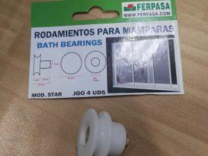 rodamiento mampara baño rosca laton
